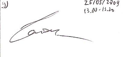 tanda tangan Catur Wirawan