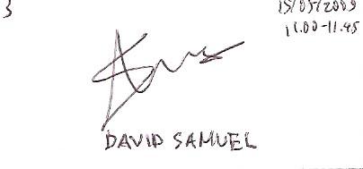 Tanda tangan David Samuel