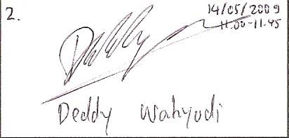 Tanda tangan Deddy Wahyudi